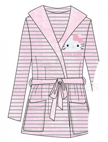 1-BATA DRESSING GOWN HELLO KITTY. ( 6MAD HY14536 )
