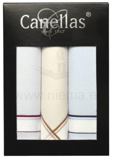 1-ESTUCHE DE CABALLERO DE 3 PAÑUELOS FONDO COLOR. ( 9TEX 0001950 )