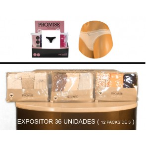 1-EXPOSITOR 12 PACKS DE 3 BIKINIS. ( 4PRO PC1011 )